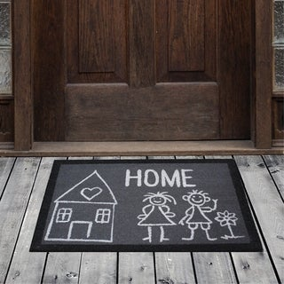 Porch & Den Homestead Loving Family Home Gray/White Coir Doormat - 20 x 31""