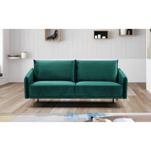 Silver Orchid Konsa Velvet Sofa