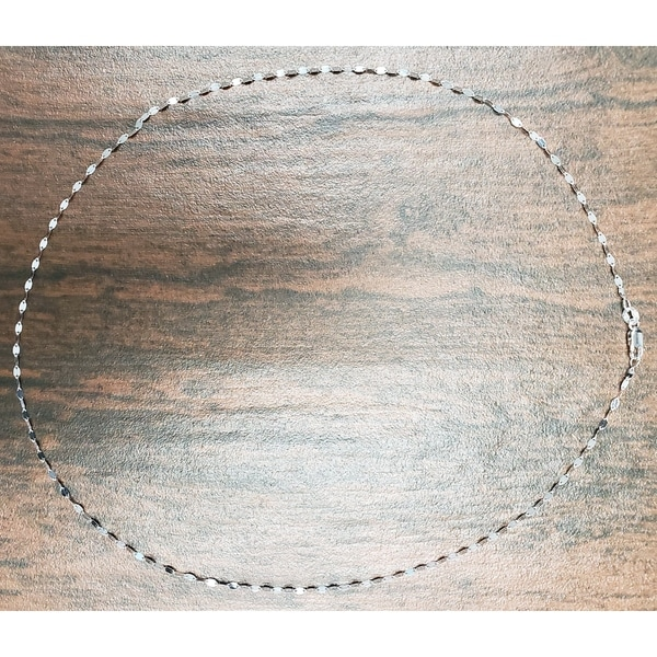 """14K 20/"""" Inches 1mm Solid White Gold Cable Link Chain Pendant Necklace"""
