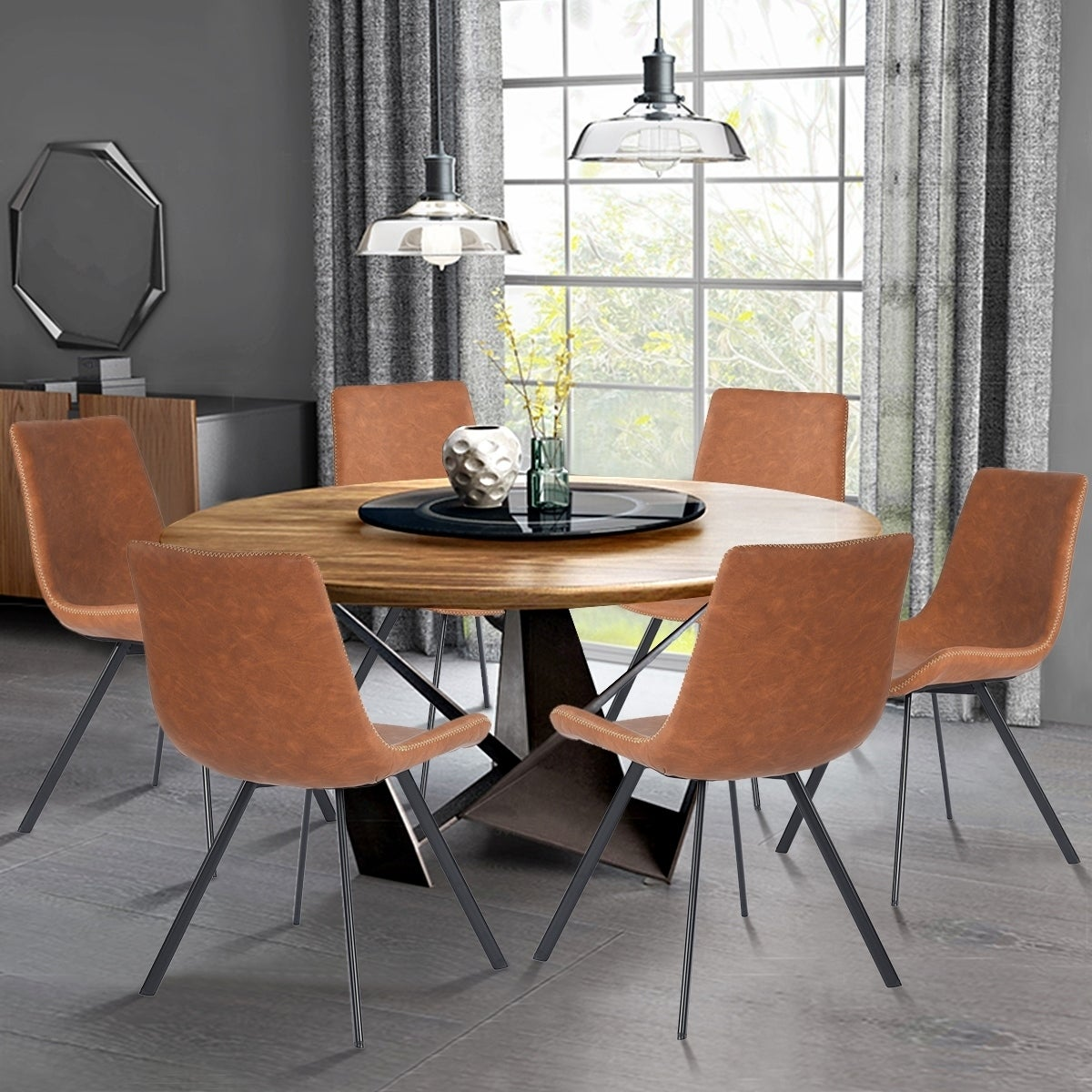 Carson Carrington Ido Ultra-modern Leather Upholstered Dining Chair