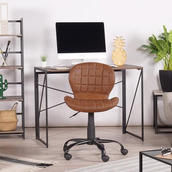Super Shop Furniture R Home Office Desk Chair Faux Leather Brown Interior Design Ideas Clesiryabchikinfo
