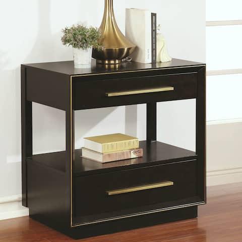 Modern Elegant Design Nightstand with 2 Drawers