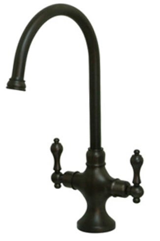 Shop Vintage Classic Oil Rubbed Bronze Kitchen Faucet - Free ...
