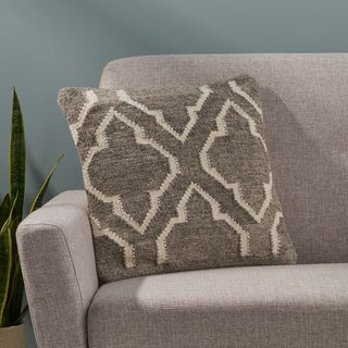 Bensley Boho Wool Pillow Cover by Christopher Knight Home