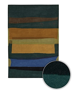 Artist's Loom Hand-tufted Contemporary Geometric Wool Rug (5'x7'6) - 5' x 8' - Thumbnail 0