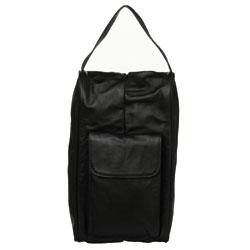 Amerileather Black Leather Golf Shoe Bag - Thumbnail 1