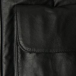 Amerileather Black Leather Golf Shoe Bag - Thumbnail 2