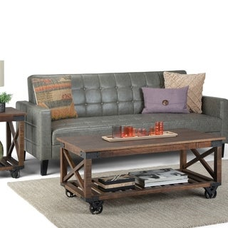 Carbon Loft Culverhouse Solid Mango Wood and Metal Industrial Coffee Table