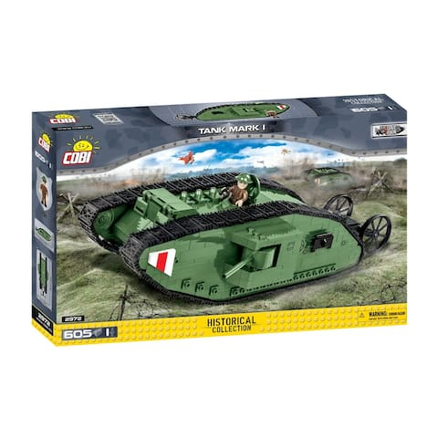 COBI Small Army Mark I Tank 600 Piece Construction Blocks Building Kit