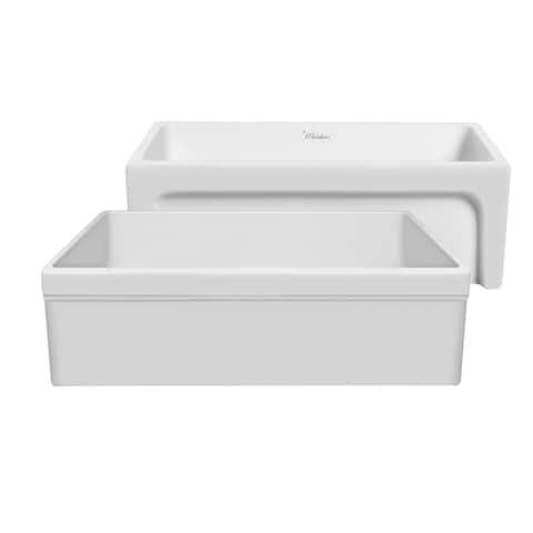 "Whitehaus Glencove 30"" Reversible Matte Kitchen Fireclay Sink"