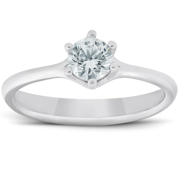 SOLID 14K YELLOW GOLD 6 PRONG DIAMOND ENGAGEMENT RING SOLITAIRE SETTING