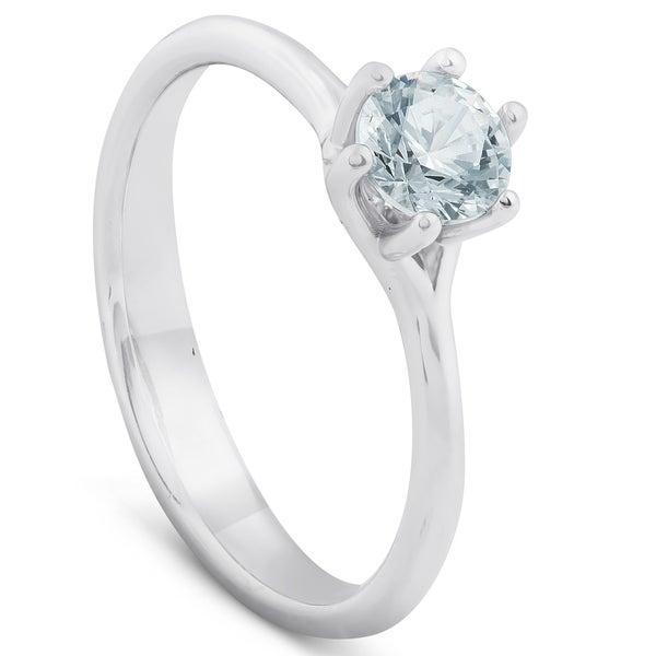 14k White Gold Diamond /& Gemstone Ring Mounting Size 6 Length Width 1