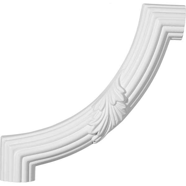 "8 7/8""W x 8 7/8""H Reeded Acanthus Leaf Panel Moulding Corner (matches moulding PML01X01AC)"