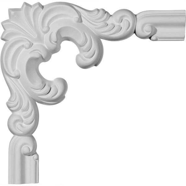 """10""""W x 10""""H x 1 1/8""""P Seville Panel Moulding Corner (matches moulding PML01X00SE)"""