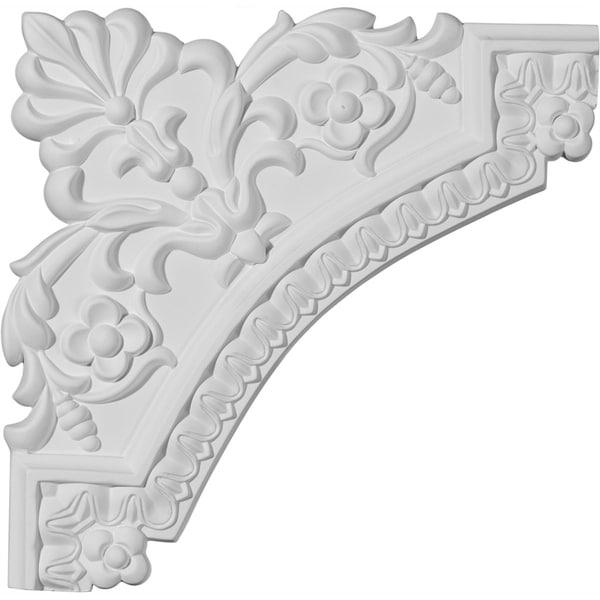 """11 3/4""""W x 11 3/4""""H Lanarkshire Panel Moulding Corner (matches moulding PML01X00LA)"""