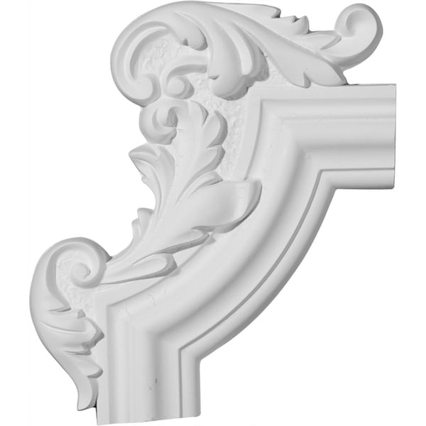 "13 1/4""W x 10 5/8""H x 1 1/8""P Pompeii Panel Moulding Corner, Left (matches moulding PML02X00PO)"