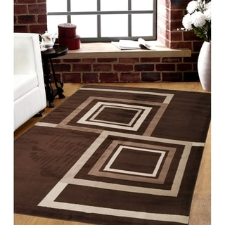 Porch & Den Rogue Valley Brown Geometric Indoor/Outdoor Area Rug