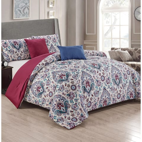 Lancaster 5-Piece Reversible Comforter Set