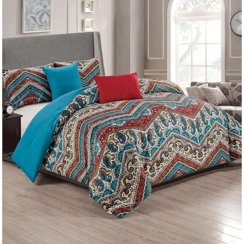 Lenox Hill 5-Piece Reversible Comforter Set