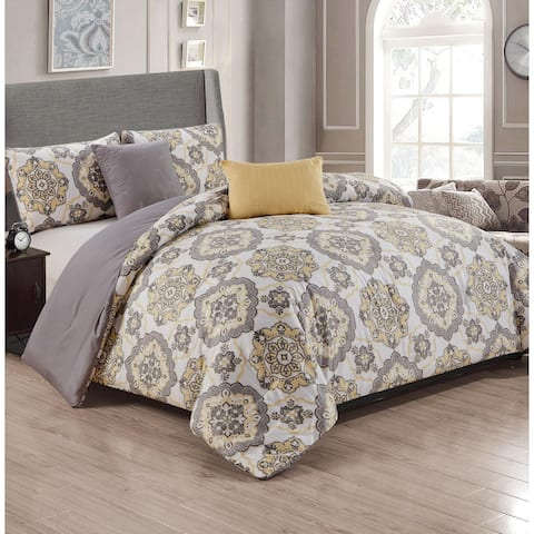 Liverpool 5-Piece Reversible Comforter Set