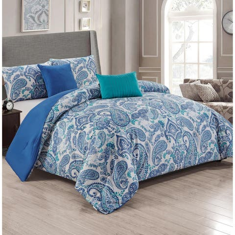 London 5-Piece Reversible Comforter Set