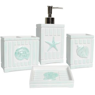 Link to Beach Shells Handcrafted Bathroom Accessories Similar Items in Toothbrush Holders