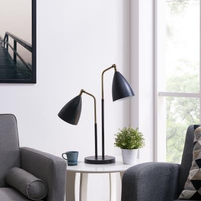 Strick & Bolton Renison Modern Vintage Black Metal Table Lamp