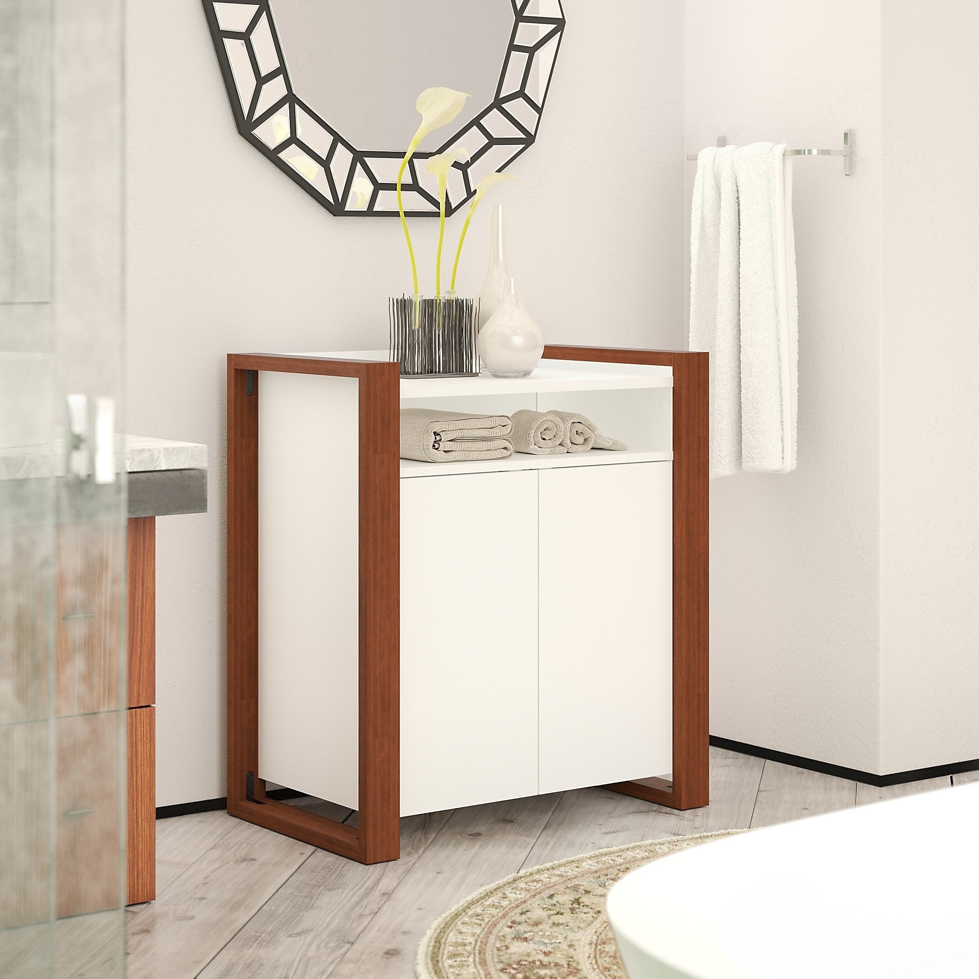 Voss Bathroom Storage Cabinet from kathy ireland Home by Bush Furniture
