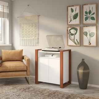Voss Record Player Stand from kathy ireland Home by Bush Furniture