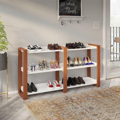 Voss 3 Tier Shoe Rack from kathy ireland Home by Bush Furniture