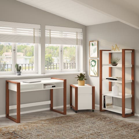 Voss 48W Desk with Storage from kathy ireland Home by Bush Furniture