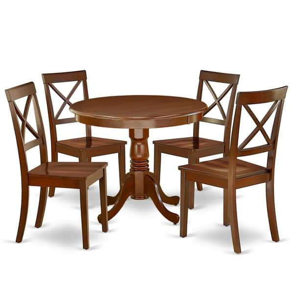 36 Inch Table And Wood Seat Chairs