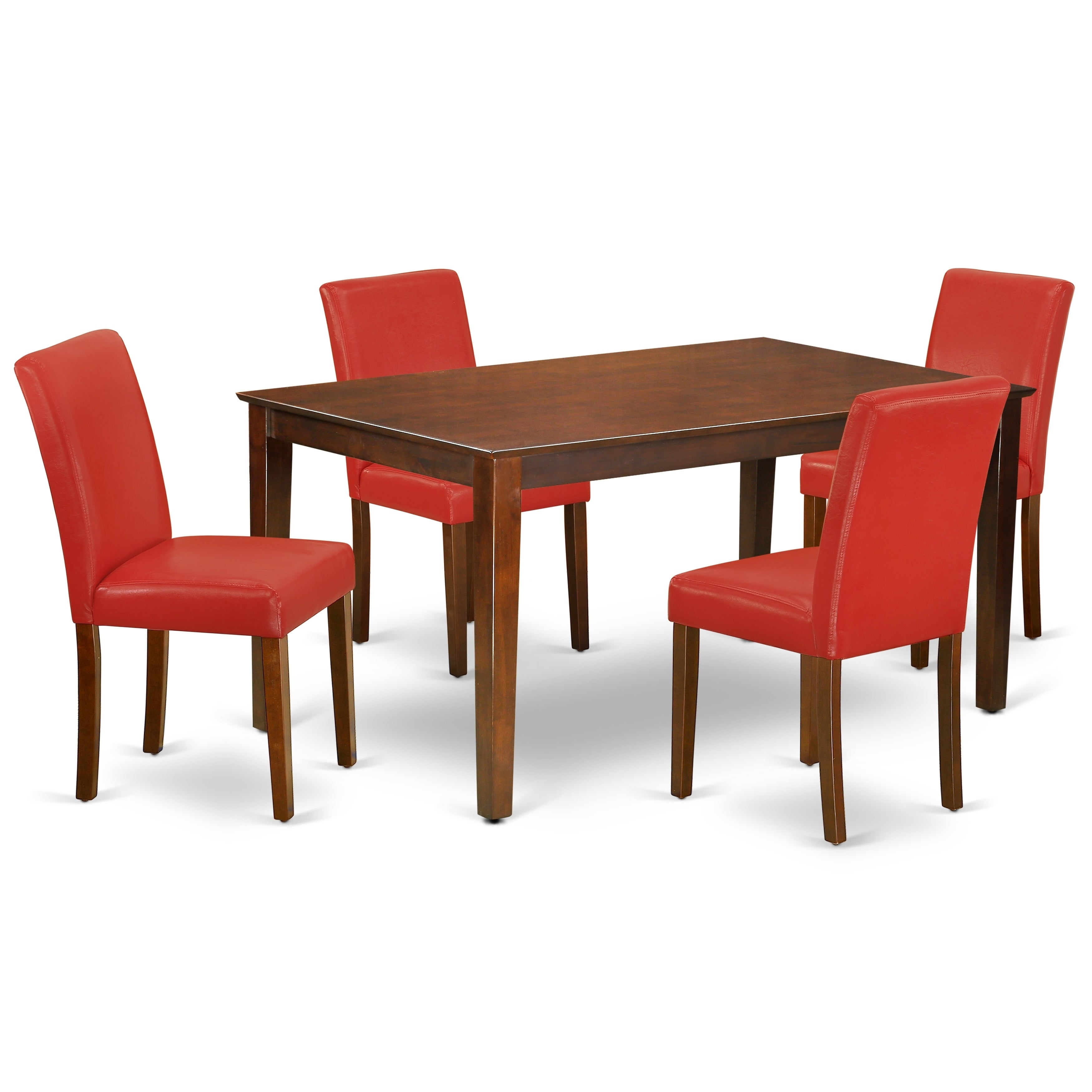 Parson Chairs In Firebrick Red Pu