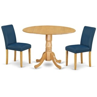 Round 42 Inch Table and Parson Chairs in Oasis PU Leather (Number of Chairs Option)