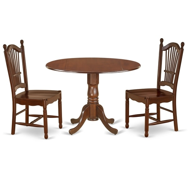 Shop Round 42 Inch Table And Wood Seat Chairs Kitchen Set