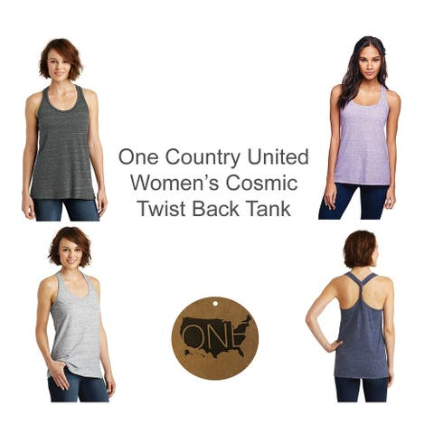 One Country United Women's Cosmic Twist Back Tank