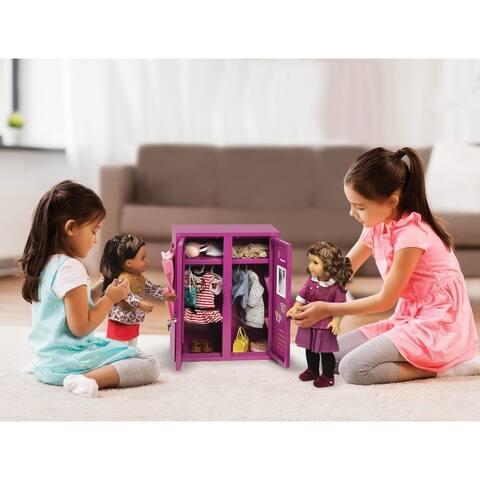 Badger Basket School Style Doll Locker Playset for 18-inch Dolls