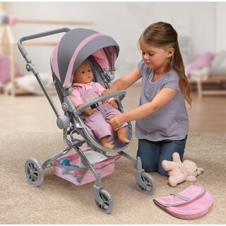 Badger Basket Daydream Multi-Function Single Doll Pram and Stroller