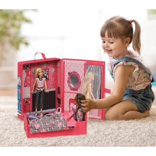 Badger Basket Home & Go Playset and Storage Case for 12-inch Dolls