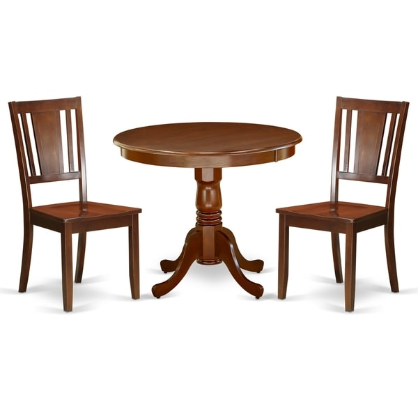 Shop Round 36 Inch Table And Wood Seat Chairs Kitchen Set