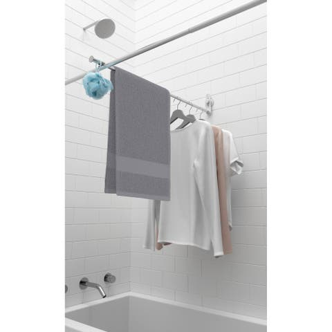 Umbra Sure-Lock Dry Bar, Clothes Rack or Clothesline for Drying Clothes In-Shower, Rust-proof