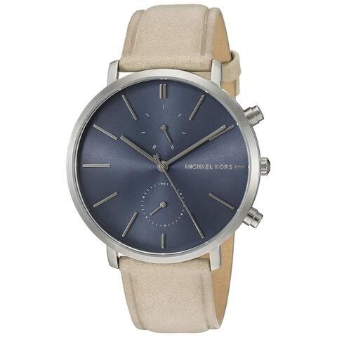 Michael Kors Men's MK8540 Jaryn Chronograph Blue Dial Tan Leather Watch