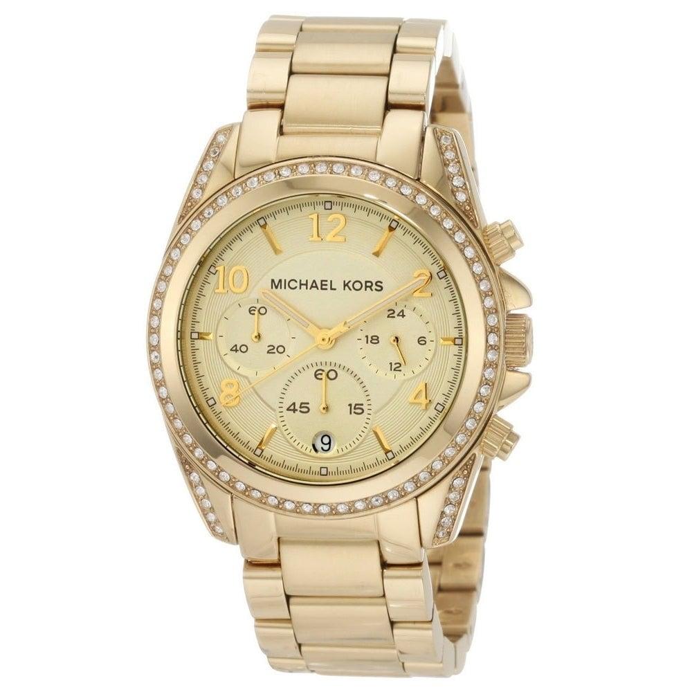Michael Kors Women's MK5166 Blair Chronograph Gold Stainless Steel Bracelet Watch