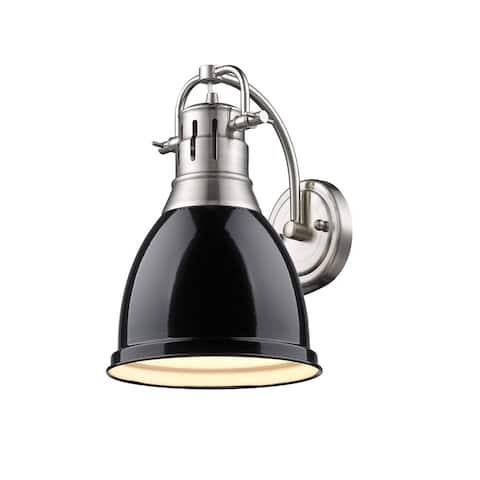 Golden Lighting Duncan Black Shade 1-light Wall Sconce in Pewter (As Is Item)