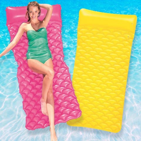 Bestway Float N Roll Air Mat 2 Pack - Yellow And Pink