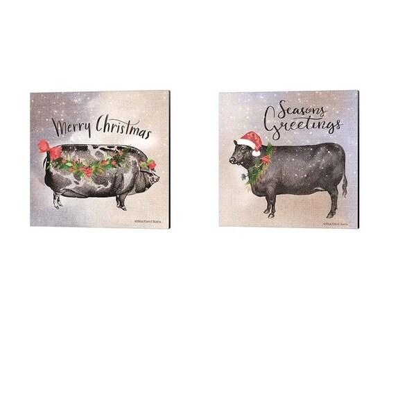 Bluebird Barn 'Vintage Christmas Be' Canvas Art (Set of 2)