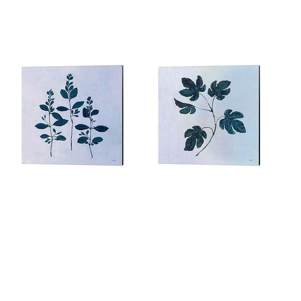 Julia Purinton 'Botanical Study Blue' Canvas Art (Set of 2)