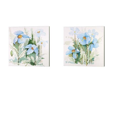 P.S. Art Studios 'Blue Flowers' Canvas Art (Set of 2)