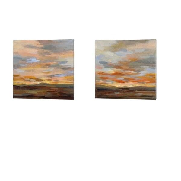 Silvia Vassileva 'High Desert Sky' Canvas Art (Set of 2)