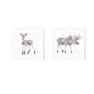 Tara Moss 'Square Deer & Moose' Canvas Art (Set of 2)